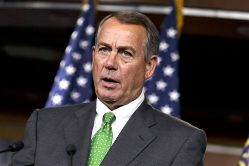 In this Sept. 11, 2014, photo, House Speaker John Boehner of Ohio speaks during a news conference on Capitol Hill in Washington.