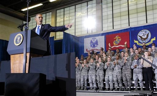 President Barack Obama speaks at U.S. Central Command (CentCom) at MacDill Air Force Base in Tampa, Fla. on Wednesday, Sept. 17, 2014. (AP)