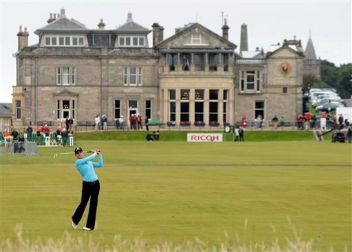 In this Aug. 5, 2007, file photo, Lorena Ochoa, of Mexico, plays a shot off the first fairway during the Women's British Open golf tournament on the Old Course at the Royal and Ancient Golf Club in St Andrews, Scotland.