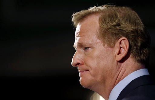 NFL Commissioner Roger Goodell speaks during a news conference Friday, Sept. 19, 2014, in New York. (AP)