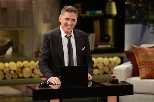 "This undated photo provided by FremantleMedia North America & Debmar-Mercury shows host Craig Ferguson on ""Celebrity Name Game."""
