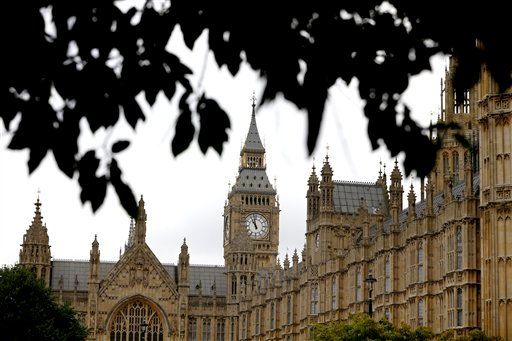 The Houses of Parliament in London, Friday, Sept. 26, 2014.