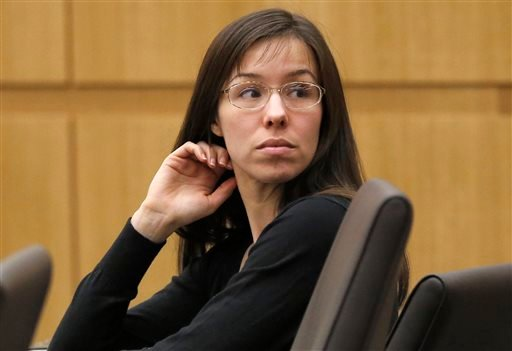 In this Jan. 9, 2013, file photo, Jodi Arias appears for her trial in Maricopa County Superior court in Phoenix.