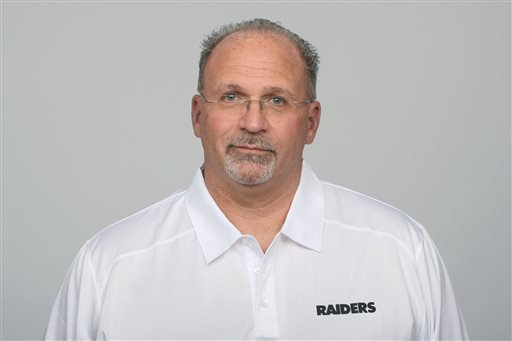This is a 2013 file photo showing Tony Sparano of the Oakland Raiders NFL football team.