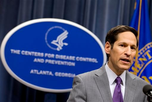 Director of Centers for Disease Control and Prevention Dr. Tom Frieden speaks during a news conference after confirming that a patient at Texas Health Presbyterian Hospital has tested positive for Ebola. (AP)
