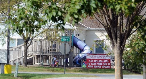 Hickory Tree Child Care Center is seen Oct. 7, 2014 in in Selbyville, Del. A 4-year-old girl took hundreds of packets of heroin to the day care center Monday, Oct. 6 and began passing it out, thinking it was candy, Delaware State Police said.