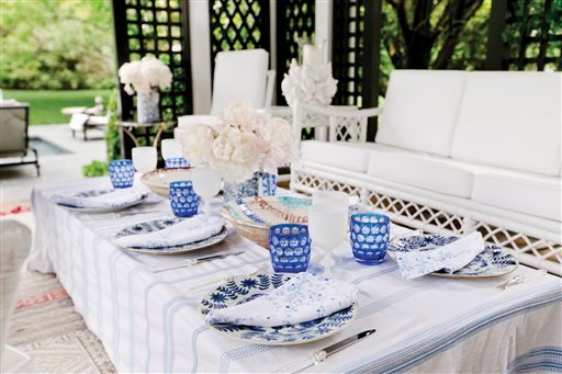 """This undated photo courtesy of Tory Burch titled """"Lunch at Home,"""" is an image showcased in her new book """"Tory Burch In Color."""""""