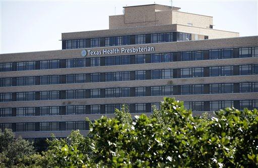 The main building of the Texas Health Presbyterian Hospital Dallas complex is shown, Thursday, Oct. 16, 2014, in Dallas. (AP)
