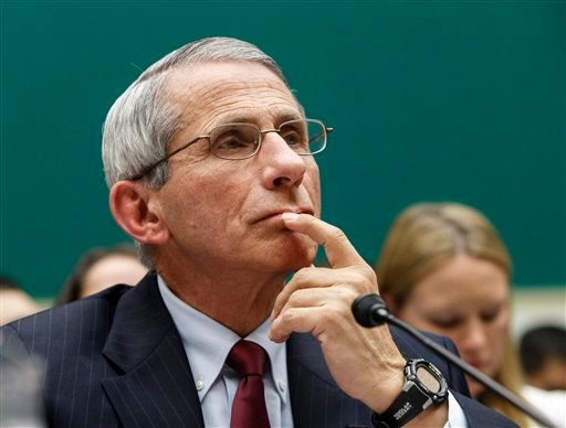 Dr. Anthony Fauci, director of The National Institute of Allergy and Infectious Diseases, testifies on Capitol Hill in Washington, Thursday, Oct. 16, 2014. (AP Photo/J. Scott Applewhite)
