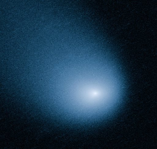 This March 27, 2014 image provided by NASA, ESA, and J.-Y. Li shows comet C/2013 A1, also known as Siding Spring, as captured by Wide Field Camera 3 on NASA's Hubble Space Telescope. (AP Photo/NASA, ESA, J.-Y. Li)