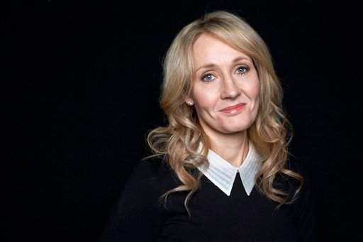 "This Oct. 16, 2012 file photo shows author J.K. Rowling at an appearance to promote her latest book ""The Casual Vacancy,"" at The David H. Koch Theater in New York."