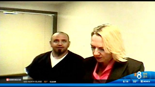 Larry Dangelo, 45, seen in this video screen image, pleaded guilty at an earlier hearing to manufacturing honey oil, which is derived from marijuana.