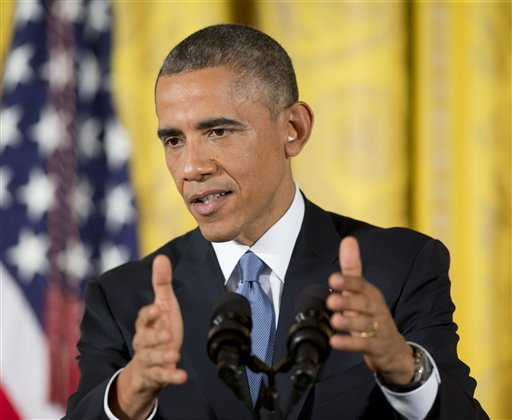 President Barack Obama gestures as he speaks during a news conference in the East Room of the White House, on Wednesday, Nov. 5, 2014, in Washington. (AP)