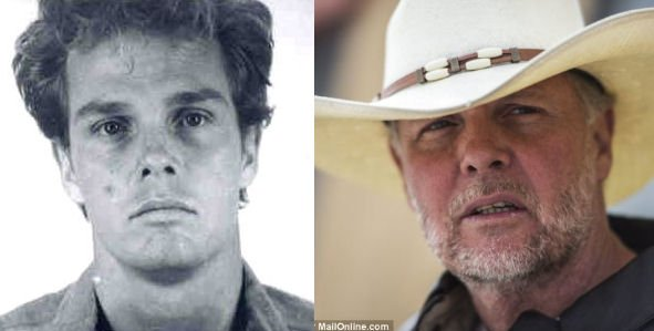 Undated mug shot and current photo of Chase Merritt, 57, arrested Wednesday on murder charges