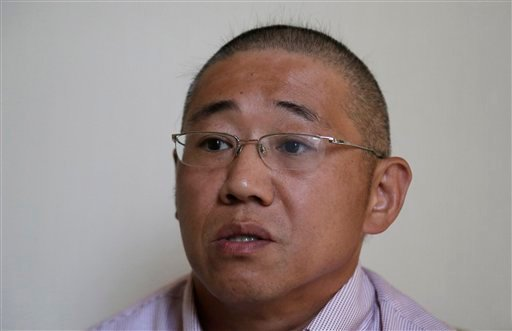 Sept. 1, 2014 file photo, Kenneth Bae speaks to the Associated Press in Pyongyang, North Korea. (AP Photo/Wong Maye-E, File)
