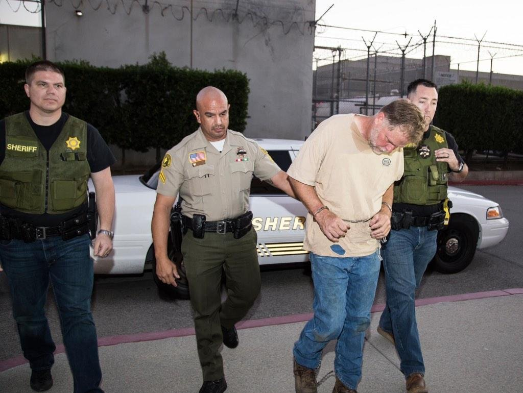 """This picture shows the Nov. 5 arrest of Charles """"Chase"""" Merritt. Investigators arrested Merritt for the murders of Joseph, Summer, Gianni & Joseph McStay Jr. Photo courtesy: @sbcountysheriff"""