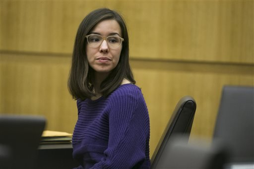 Jodi Arias looks on as her attorney Kirk Nurmi (not pictured) discusses motions during the sentencing phase of her trial at Maricopa County Superior Court in Phoenix on Wednesday, Nov. 12, 2014. (AP)