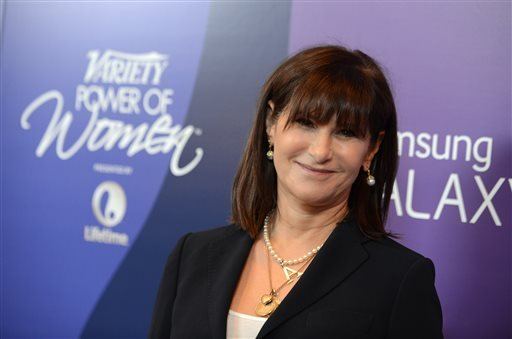 FILE --In this Oct. 4, 2013 file photo, Amy Pascal, Sony Pictures Entertainment co-chairman, arrives at Variety's 5th Annual Power of Women event at the Beverly Wilshire Hotel on Friday, Oct. 4, 2013, in Beverly Hills, Calif. (AP)