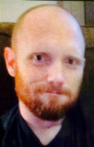 This undated photo provided by the Montgomery County Office of the District Attorney in Norristown, Pa., shows Bradley William Stone, 35, of Pennsburg, Pa., a suspect in six shooting deaths in Montgomery County on Monday, Dec. 15, 2014. District Attorney