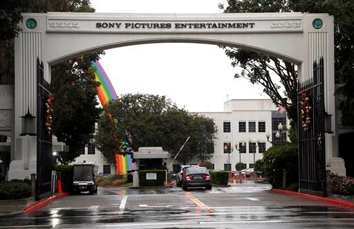 FILE - In this Dec. 2, 2014 file photo, cars enter Sony Pictures Entertainment headquarters in Culver City, Calif. (AP)