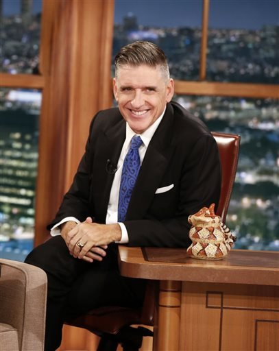 """In this Dec. 15, 2014 photo released by CBS, host Craig Ferguson appears on the set of """"The Late Late Show with Craig Ferguson,"""" in Los Angeles. Ferguson's final show will be on Friday. (AP Photo/CBS, Monty Brinton)"""