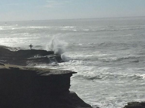 Waves crash on shore at Sunset Cliffs, Calif..Sunday, Dec. 21, 2014