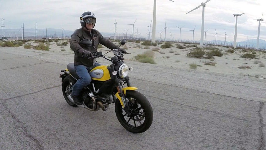 The Ducati Scrambler hits the U.S. market next year.  The motorcycle is light weight and easy to ride.