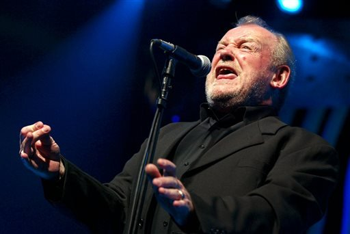 In this July 20, 2002 file photo, British Rock and Blues legend Joe Cocker performs on stage of the Stravinski hall during the Montreux Jazz Festival, in Montreux, Switzerland.
