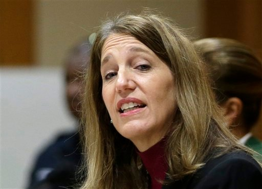 FILE - In this Nov. 17, 2014 file photo, Health and Human Services Secretary Sylvia Burwell speaks at Florida International University College of Law in Miami. (AP)