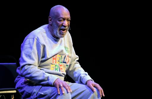 FILE - In this Nov. 21, 2014 file photo, Bill Cosby performs during a show at the Maxwell C. King Center for the Performing Arts in Melbourne, Fla. (AP Photo/Phelan M. Ebenhack, File)