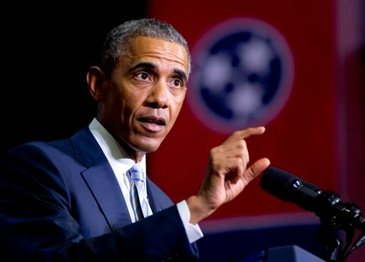 This Jan. 9, 2015, file photo shows President Barack Obama speaking at Pellissippi State Community College, in Knoxville, Tenn. President Obama is turning to his biggest television audience of the year to pitch tax increases on the wealthiest Americans an