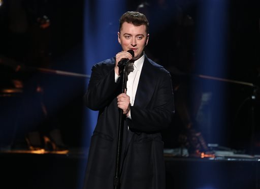 FILE - In this Nov. 23, 2014, file photo, Sam Smith performs on stage at the 42nd annual American Music Awards at Nokia Theatre L.A. Live in Los Angeles. (AP)