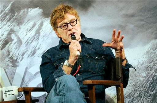 Sundance Institute founder Robert Redford addresses the media during the opening day press conference at the 2015 Sundance Film Festival on Thursday, Jan. 22, 2015, in Park City, Utah. (Photo by Chris Pizzello/Invision/AP)