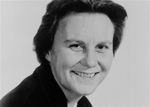"""This March 14, 1963 file photo shows Harper Lee, author of the Pulitzer Prize-winning novel, """"To kill a Mockingbird."""" Publisher Harper announced Tuesday, Feb. 3, 2015, that """"Go Set a Watchman,"""" a novel Lee completed in the 1950s and put aside, will be rel"""