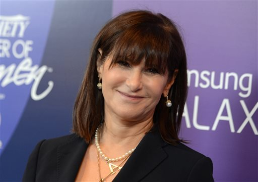 In this Oct. 4, 2013 file photo, Amy Pascal, Sony Pictures Entertainment co-chairman, arrives at Variety's 5th Annual Power of Women event at the Beverly Wilshire Hotel in Beverly Hills, Calif.