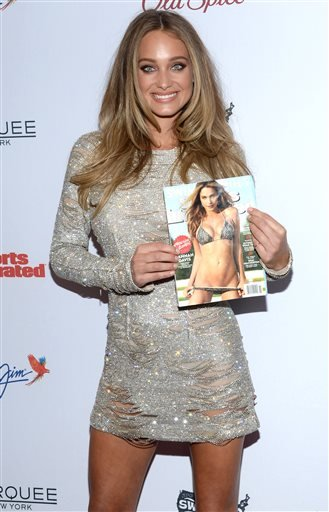 Hannah Davis attends Sports Illustrated's Swimsuit Issue 2015 Celebration at Marquee on Tuesday, Feb. 10, 2015, In New York.