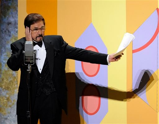 FILE-This Sept. 21, 2008 file photo Gary Owens performs in a skit at the 60th Primetime Emmy Awards in Los Angeles. (AP)