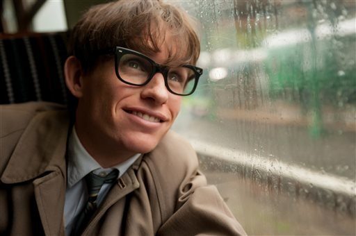 "This image released by Focus Features shows Eddie Redmayne as Stephen Hawking in a scene from ""The Theory of Everything."" (AP)"