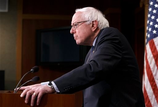 In this Jan. 16, 2015 file photo, Sen. Bernie Sanders, I-Vt. pauses during a news conference on Capitol Hill in Washington. The rich aren't taxed enough and the middle-class is taxed too much. As for your taxes, you probably think they're too high as wel