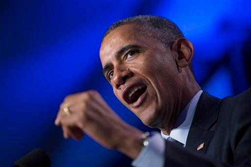 In this Feb. 20, 2015 file photo, President Barack Obama speaks in Washington. The rich aren't taxed enough and the middle-class is taxed too much. As for your taxes, you probably think they're too high as well. Those are the results of a new Associated P