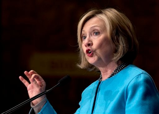 FILE - In this Dec. 3, 2014 file photo, former Secretary of State Hillary Rodham Clinton speaks at Georgetown University in Washington. (AP)
