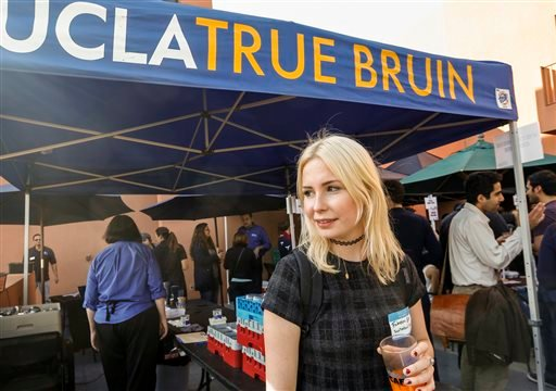In this Thursday, Feb. 26, 2015 photo, student Fabienne Roth pauses for a photo at the UCLA campus in Los Angeles. (AP)