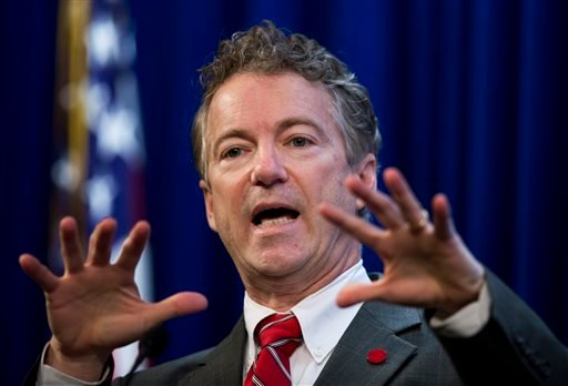 FILE - In this Jan. 13, 2015, file photo, Sen. Rand Paul, R-Ky., speaks at the Heritage Foundation's Conservative Policy Summit in Washington. (AP)