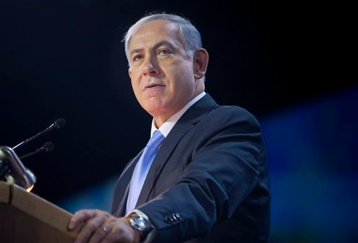 Israeli Prime Minister Benjamin Netanyahu speaks at the American Israel Public Affairs Committee (AIPAC) Policy Conference in Washington, Monday, March 2, 2015. Netanyahu is seizing the high-profile bully pulpit of the U.S. House to deliver his stern mess