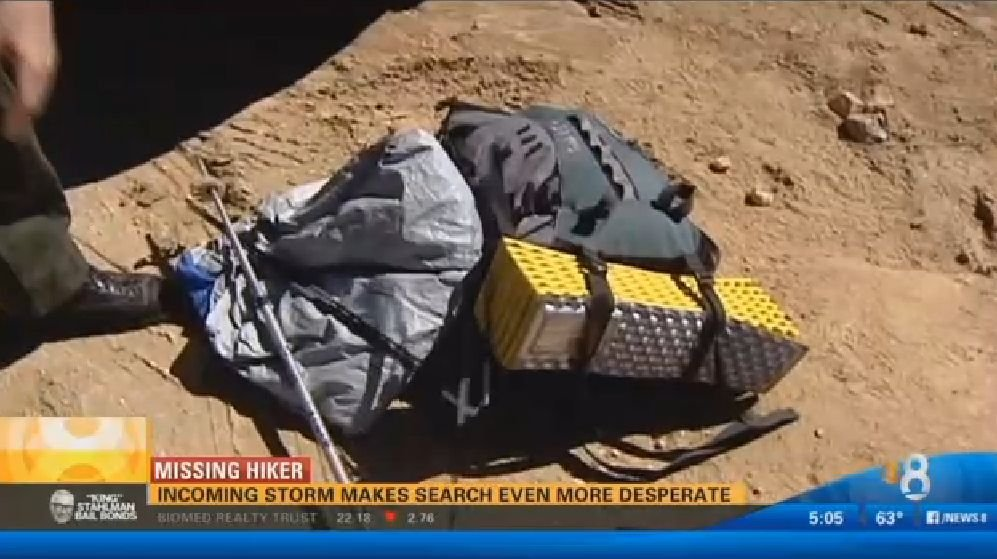 Sylvia's camping gear was found abandoned in Chihuahua Valley