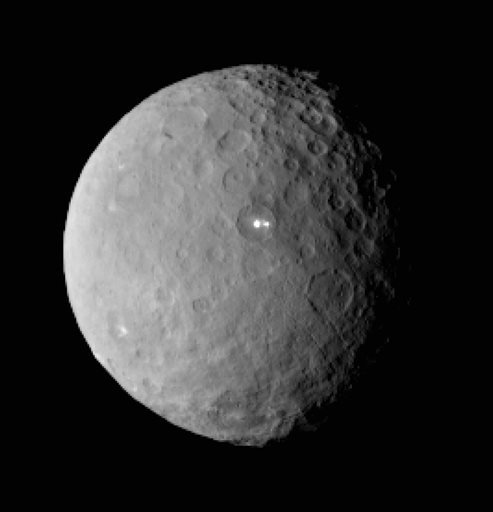 This Feb. 19, 2015 file image provided by NASA shows the dwarf planet Ceres, taken by the space agency's Dawn spacecraft from a distance of nearly 29,000 miles (46,000 kilometers). On Friday, March 6, 2015, NASA's Dawn spacecraft arrives at the mysterious