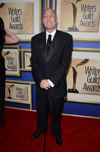 In this Feb. 1, 2014 file photo, Sam Simon arrives at the Writers Guild Awards, in Los Angeles.