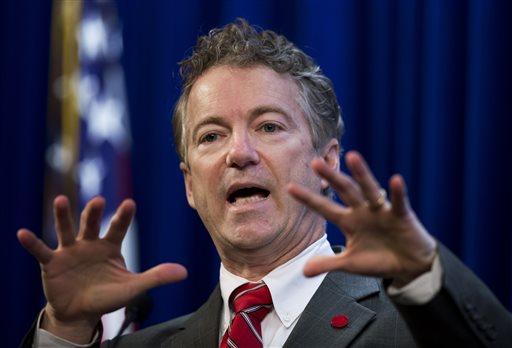 FILE - In this Jan. 13, 2015, file photo, Sen. Rand Paul, R-Ky. speaks in Washington. (AP)