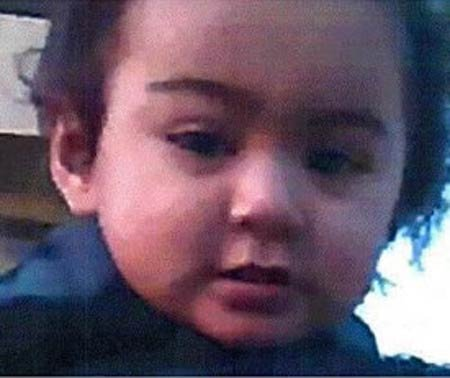 Jayden Santiago, is a 1 year old Hispanic male, standing 24 inches tall, weighing 26 pounds, with black hair, and brown eyes.