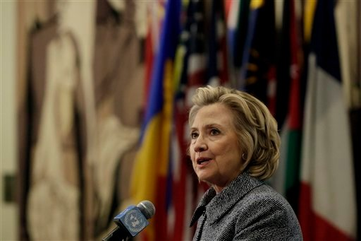 Hillary Rodham Clinton answers questions at a news conference at the United Nations, Tuesday, March 10, 2015. (AP)